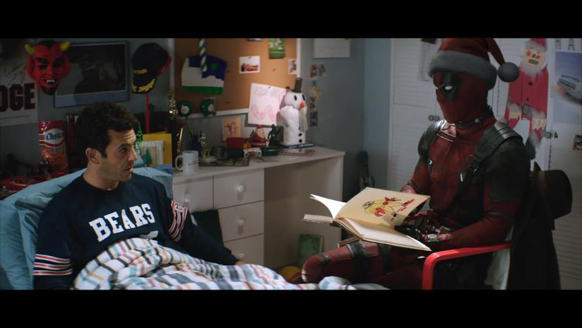 Ryan Reynolds e Fred Sage in Deadpool 2 (versione PG-13)