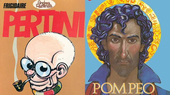 Pertini e Pompeo del fumettista Andrea Pazienza