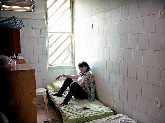 Una detenuta della Prigione Prigione Neve Tirza, Ramla, Israele