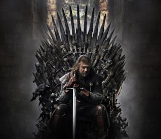 Ned Stark sul Trono di Spade in Game of Thrones 1