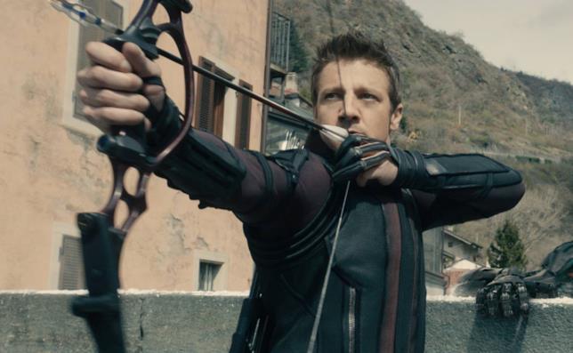 Jeremy Renner nei panni di Occhio di Falco in Avengers: Age of Ultron