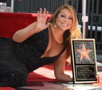 Primo piano di Mariah Carey sulla Walk of Fame