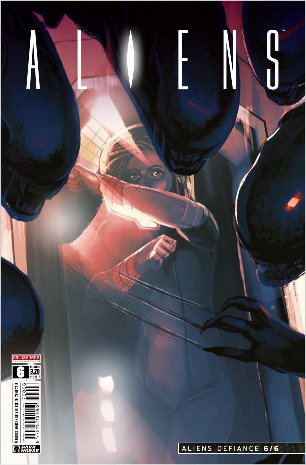 Cover di Aliens #6 con Zula minacciata dagli alieni