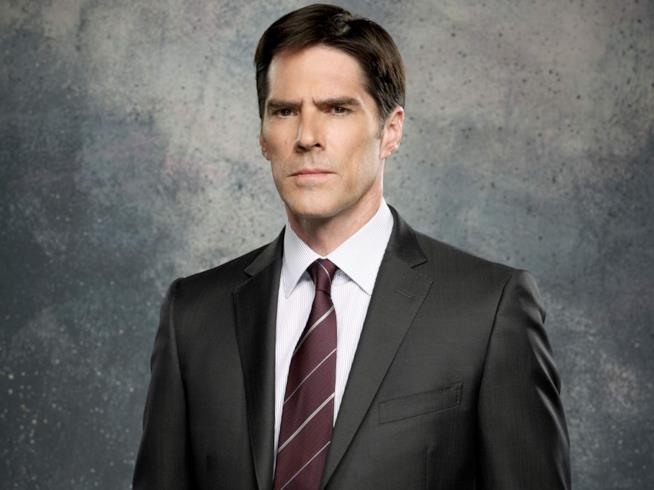 Un'immagine di Hotch di Criminal Minds