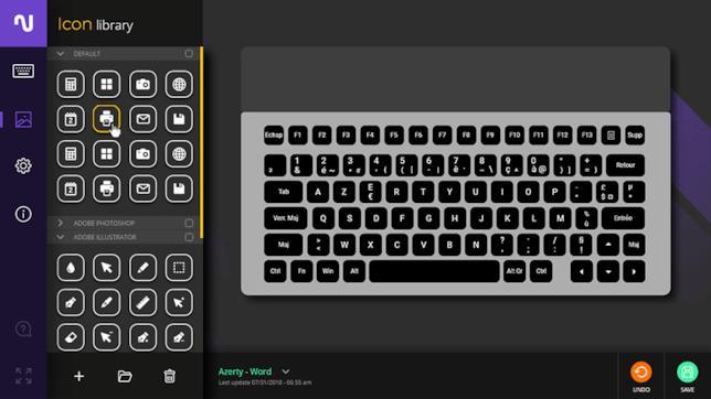 Personalizzazione dei tasti della tastiera E Ink di Nemeio