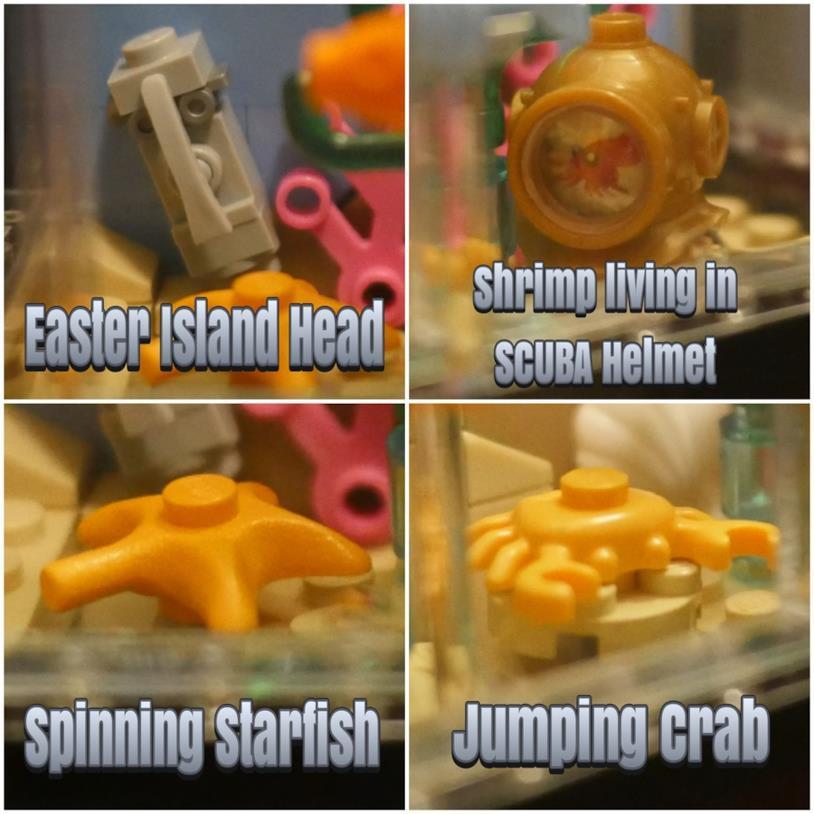 L'acquario di LEGO costruito da un fan è ricco di elementi, come ad esempio una stella marina e un granchio
