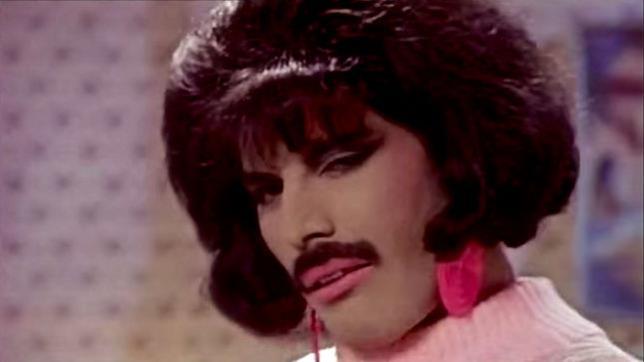 Freddie Mercury nel video I Want to Break Free