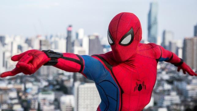 Un dettaglio della tuta in Spider-Man Homecoming