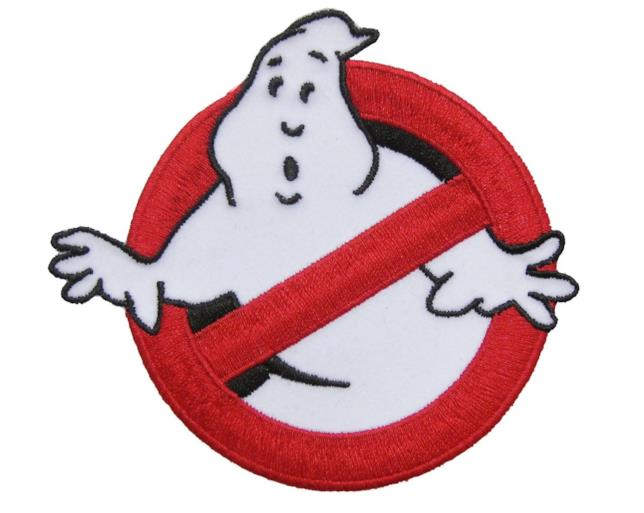 Il logo di Ghostbusters utilizzato nelle divise