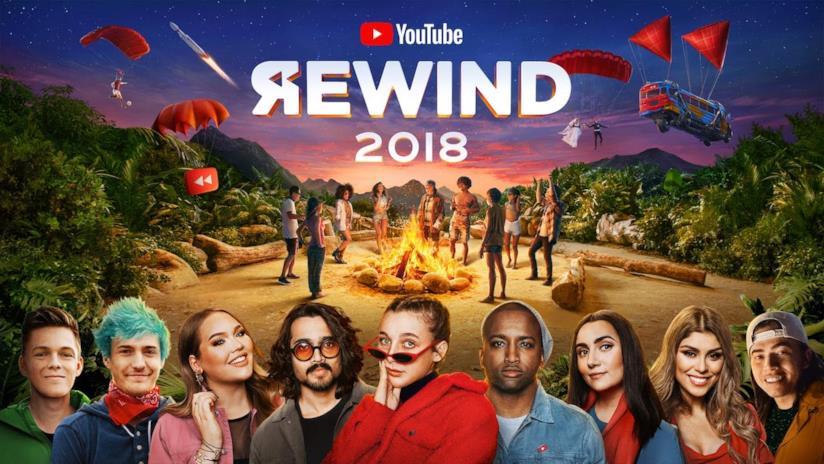 Copertina del videoclip YouTube Rewind 2018 che riassume gli eventi degli ultimi 12 mesi