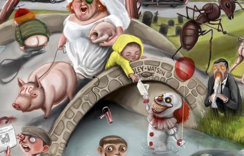 Particolare del poster di Jordan Monsell dedicato a Stephen King