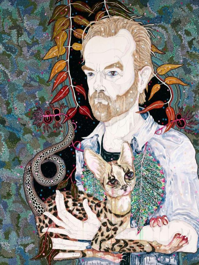 Hugo Weaving in un dipinto di
