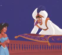 Jasmine e Aladdin cartone animato
