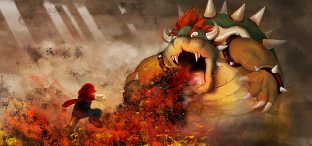 Mario e Bowser, nemici da sempre