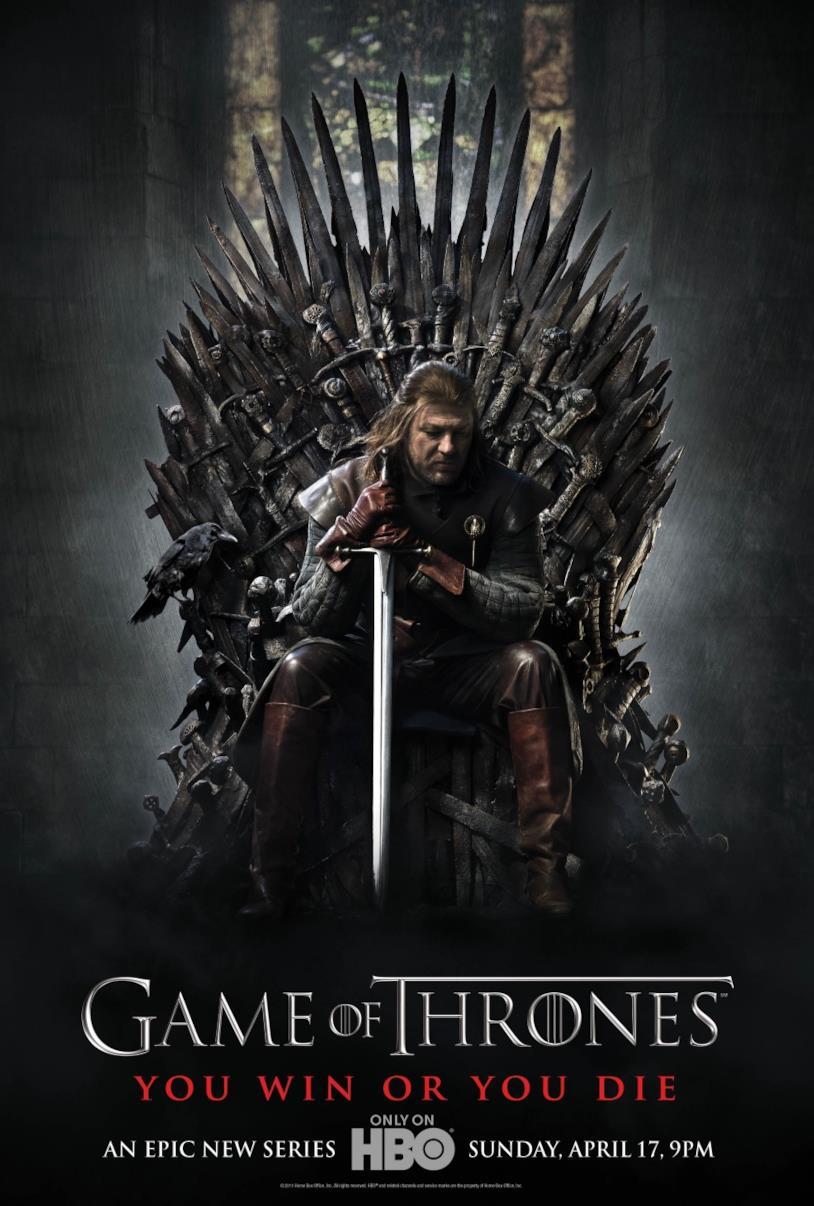 Il poster della prima stagione de Il Trono di Spade