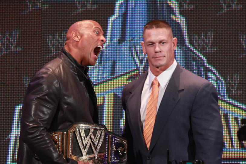 The Rock e John Cena insieme