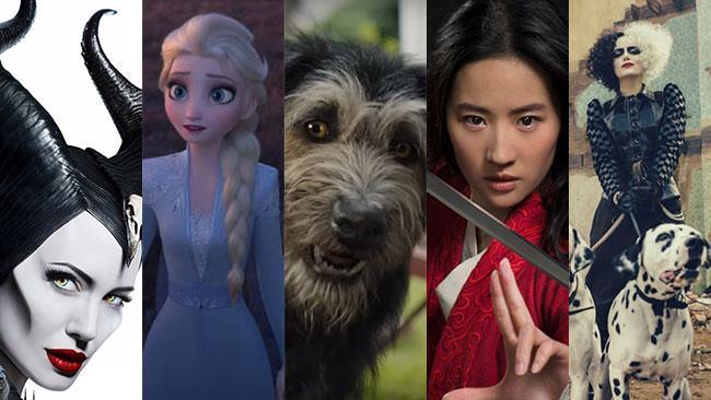 I film Maleficent 2, Frozen 2, Lilly e il Vagabondo, Mulan, Cruella
