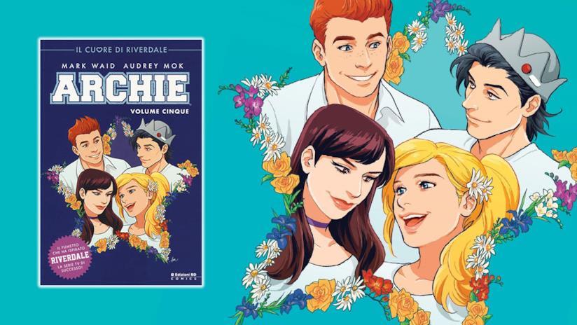 Archie, Jughead, Veronica e Betty sulla cover di Archie Vol. 5