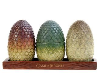 Nuovi gadget de Il Trono di Spade, le saliere con le uova di drago sono un must have