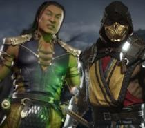 I personaggi di Shang Tsung e Scorpion in una immagine del videogioco di Mortal Kombat