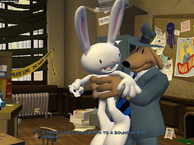 Una sequenza della prima stagione di Sam & Max Stagione
