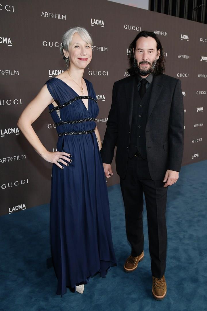 Keanu Reeves con Alexandra Grant