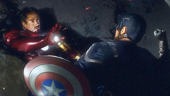 Capitan Ameria e Iron Man si scontrano