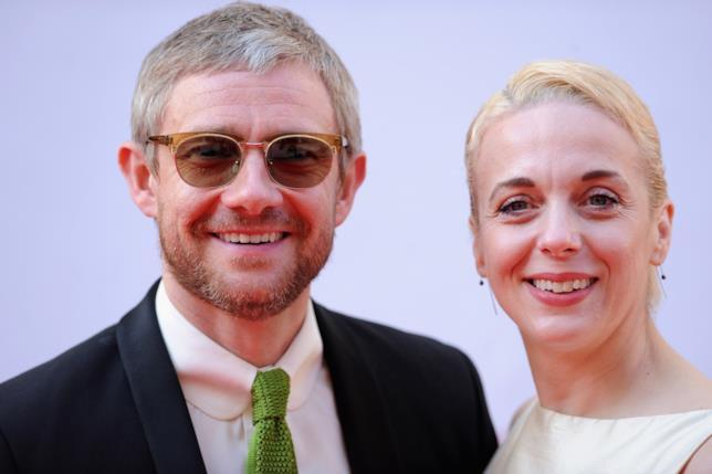 Martin Freeman e Amanda Abbington