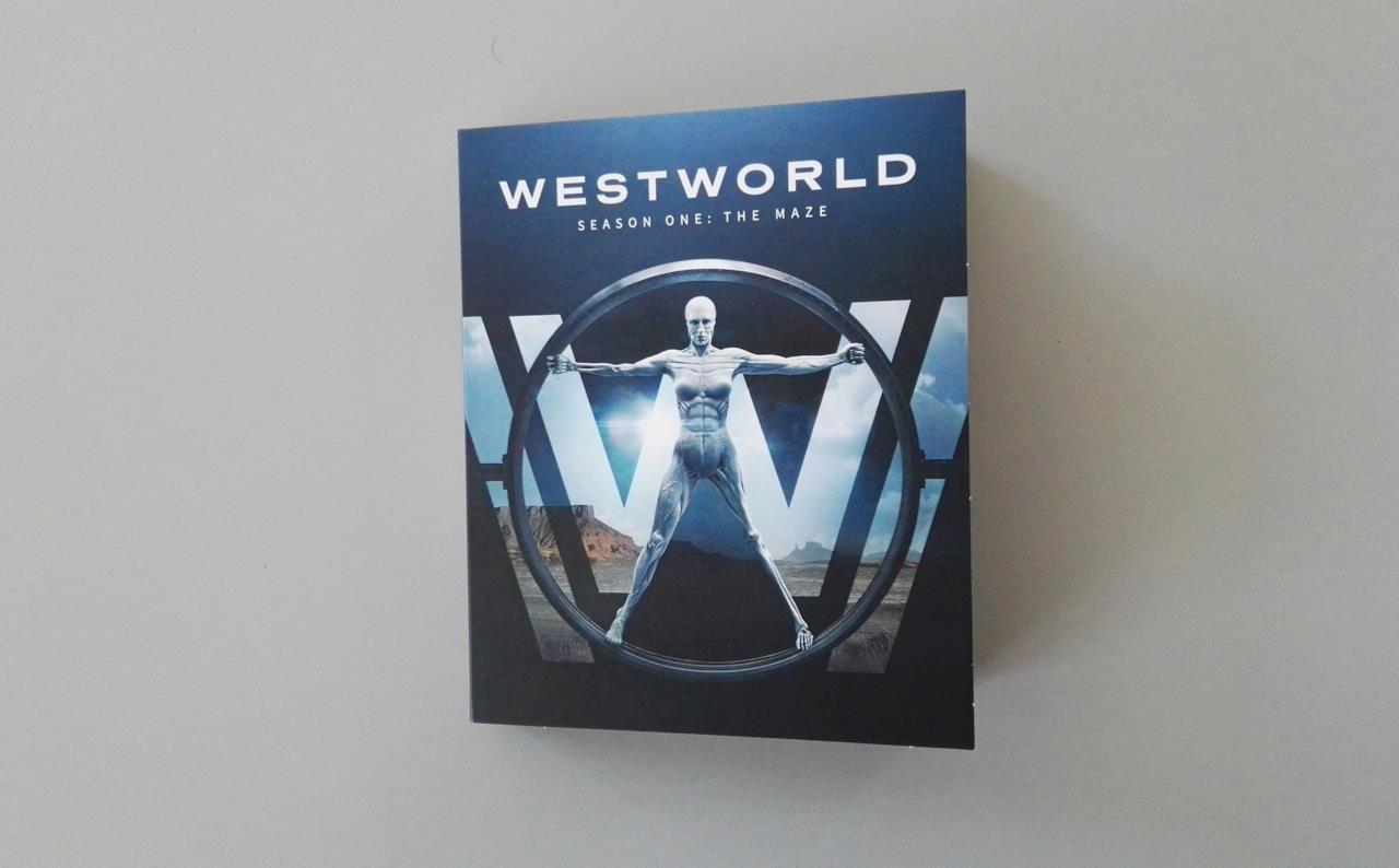 Copertina del cofanetto che custodisce i Blu-ray di Westworld