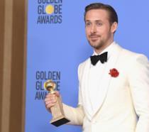 Primo piano di Ryan Gosling ai Golden Globes 2017