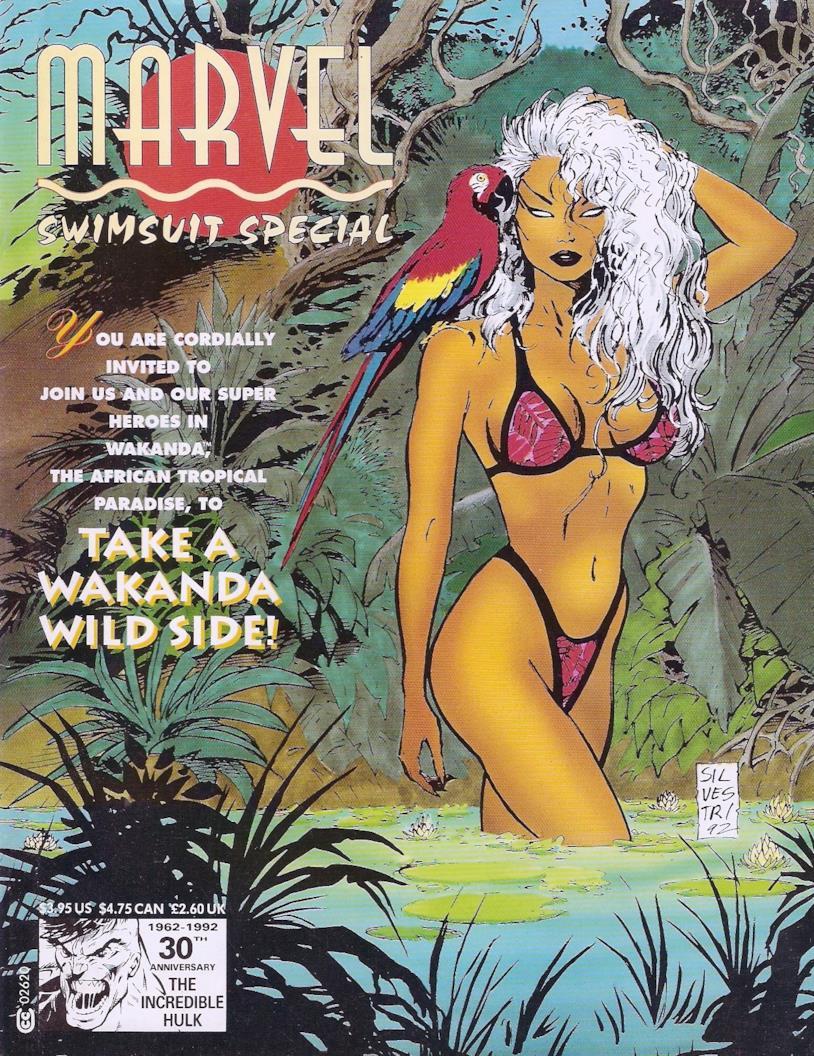 La copertina di Marvel Swimsuit Special, magazine pubblicato nel 1992