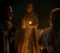 Jon e Danerys nelle Cripte di Grande Inverno