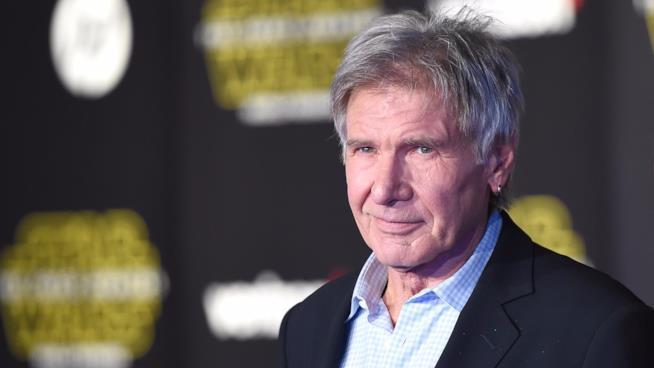 Harrison Ford alla prima di Star Wars: Il Risveglio della Forza