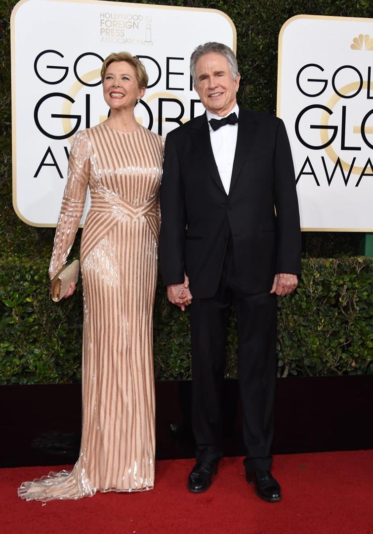 Annette Bening con il marito Warren Beatty