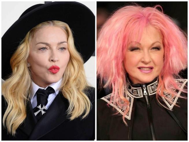 Madonna e Cindy Lauper
