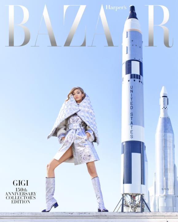 Gigi Hadid e i missili nello shooting di Harper's Bazaar