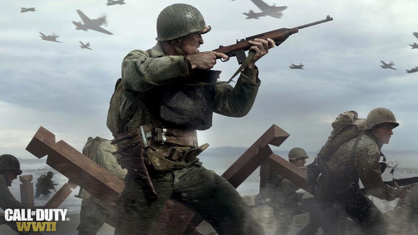 Soldati al fronte in una scena del trailer di Call of Duty: WWII