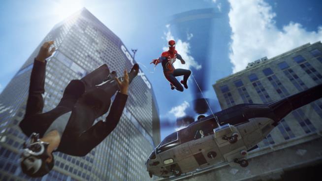 L'Uomo Ragno in azione su PS4