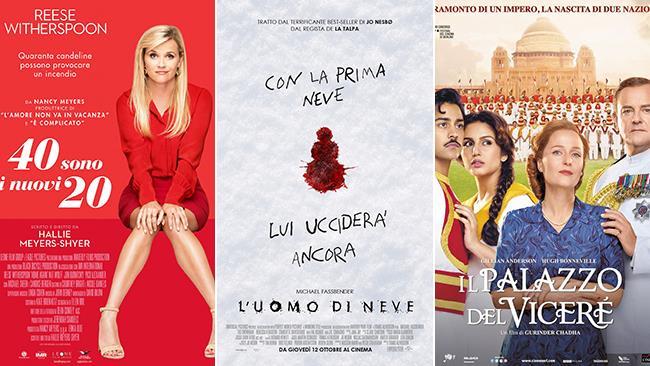 I poster dei film Il Palazzo del Viceré, L'uomo di Neve, 40 Sono i Nuovi 20