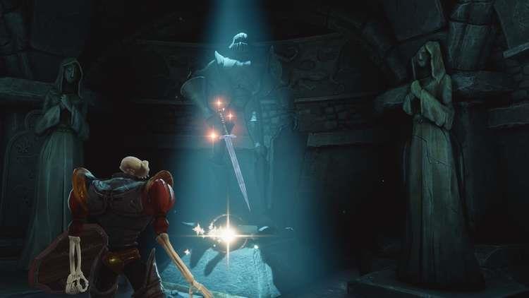 Un'immagine dalla cripta in MediEvil
