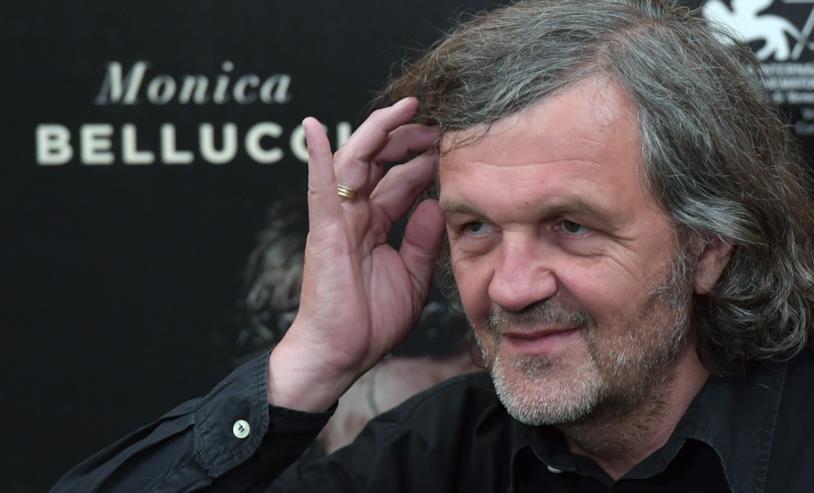 Il regista Emir Kusturica durante la presentazione del film Sulla Via Lattea