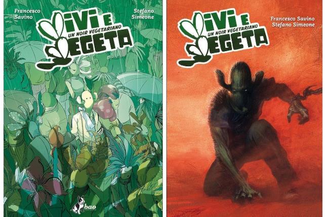La copertina regular di Vivi e Vegeta e la variant di Gabriele Dell'Otto
