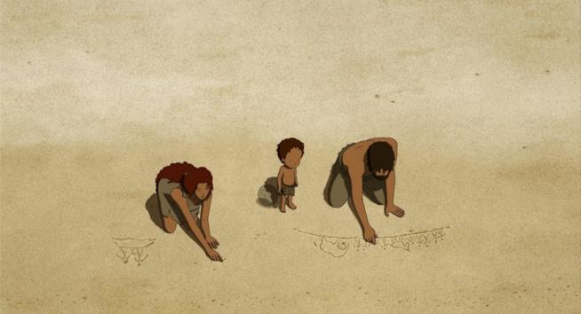 Una scena del film animato di Michael Dudok de Wit