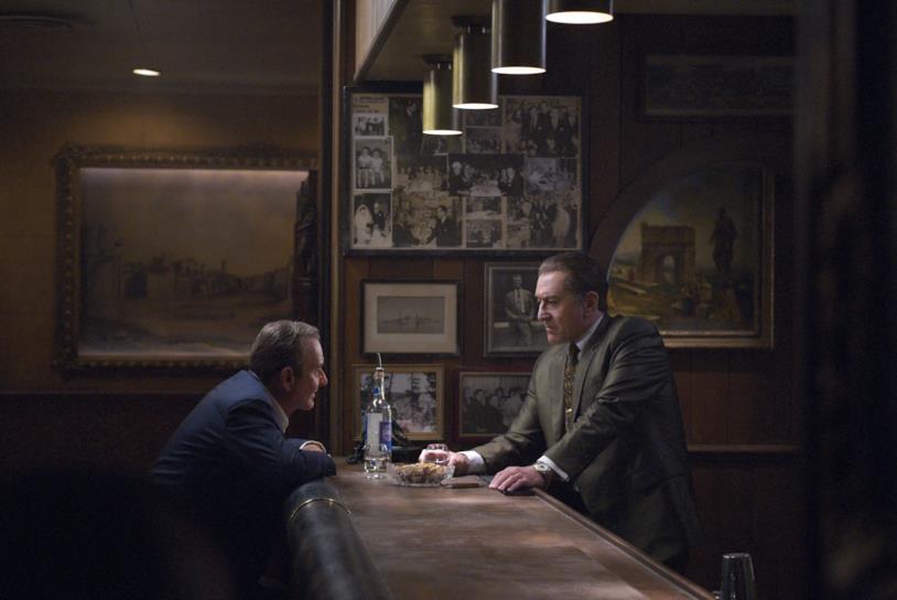 Joe Pesci e Robert De Niro in una scena del film The Irishman di Martin Scorsese