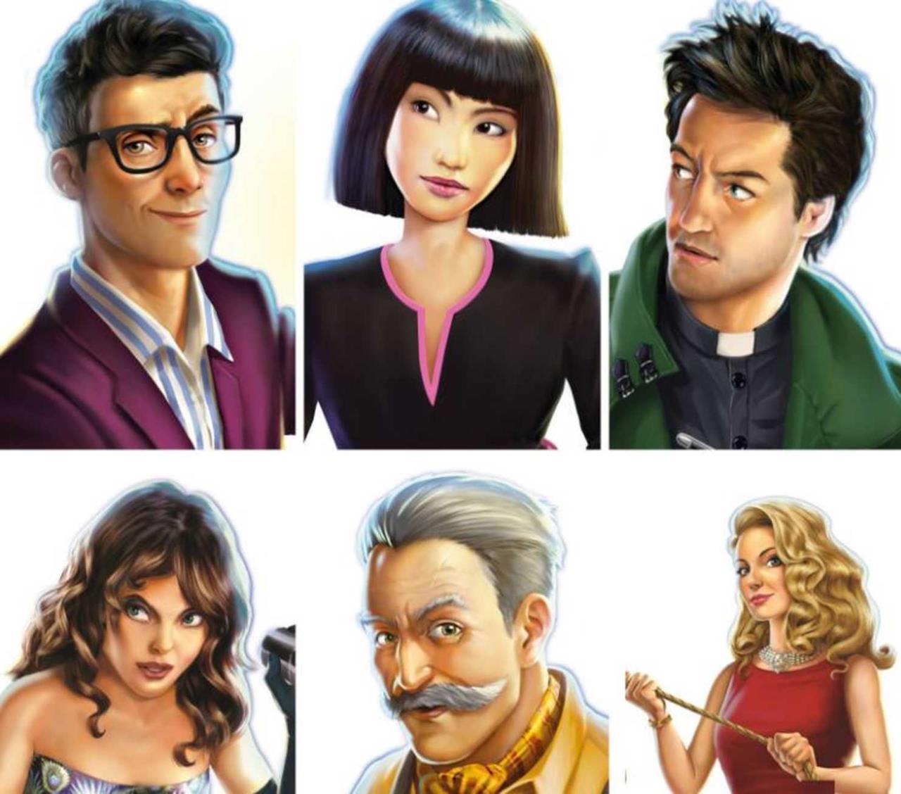I sei personaggi di Cluedo 2016