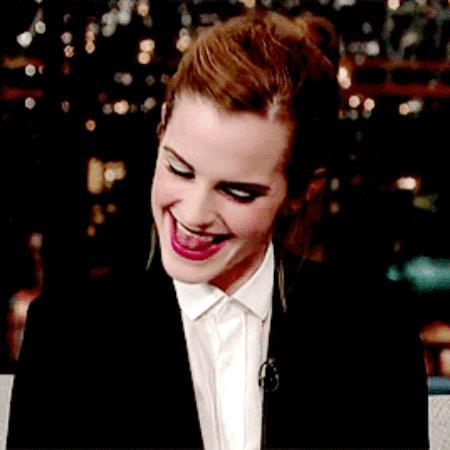 Emma Watson durante un'intervista imbarazzante