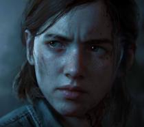 Un primo piano di Ellie da The Last of Us Part II
