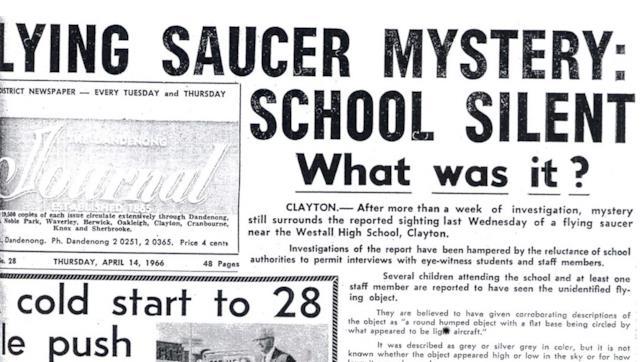 L'avvistamento di Westhall sui giornali locali
