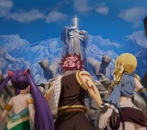I protagonisti di Fairy Tail in una sequenza del videogame