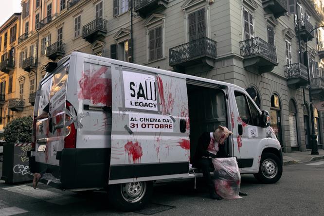 Il furgone utilizzato per la campagna pubblicitaria di Saw: Legacy